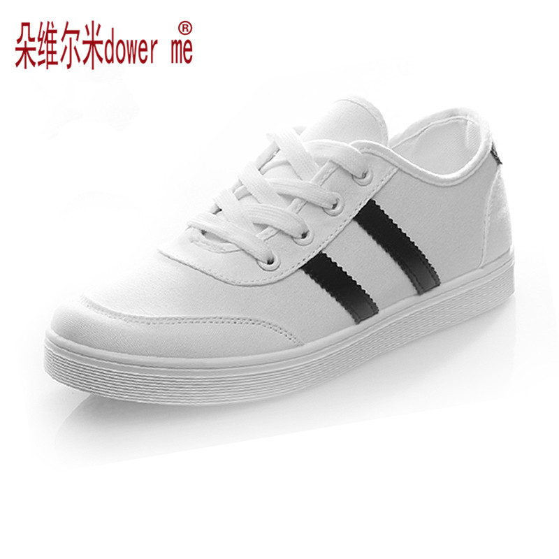 Spring Autumn Female Canvas Shoes Womens Student Casual Shoes Low Flat Shoes Fashion Classic Single Shoes White Black<br><br>Aliexpress