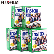 5pcs Fujifilm Instax Wide Film Plain Edge Twin Pack Version (Total 100 Photos) Instant Film for Camera 200 210 Free Shipping(China)