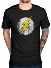 2017 Hot Sales Dc Comics Flash Logo T Shirt Big Bang Theory Sheldon Cooper Distressed T Shirt Tops Printed Short Sleeve Tees