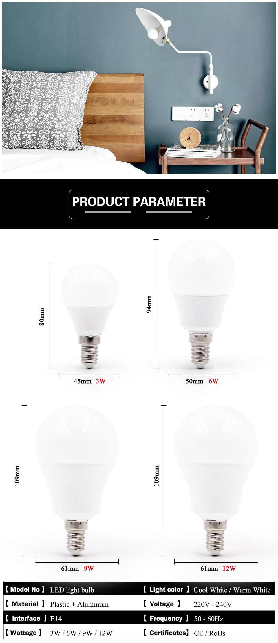 LED pærer. Farge lys: varm hvit og kald hvit. Sokkel: E14 og E27. Levetid ca. 50.000 timer.