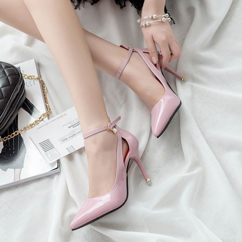 Free shipping spring womens fashion pointed toe high heel shoes shallow mouth thin heels breathable single wedding shoes <br><br>Aliexpress