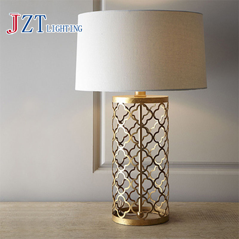 T Simple Warm Golden Table Lamps Retro Creative American Style Lighting For Bedroom Foyer Hotel Diameter55&amp;70cm With LED Bulb<br><br>Aliexpress