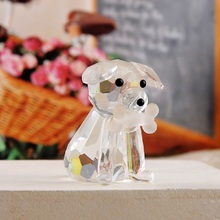 10pcs Crystal Dog Ornaments Furnishing ArticlesFor Wedding Baby Shower Party Birthday Favor Gift Souvenirs