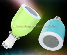 Remote Control Wireless Bluetooth Speaker LED Light Lamp Speaker Music Playing Bulb with Socket DHL/UPS/FEDEX/EMS Free Shipping(China)