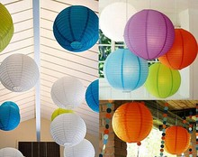 Large Size 30cm Chinese Paper Lanterns Hanging Ballon Lanterns Paper Balls Crafts Supplies Home&Garden Festival Party Decoration