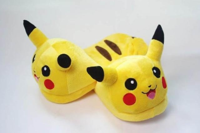 New Pokemon Pikachu 11 Adult Plush Slipper 1 Pair of Shoes Anime cosplay<br><br>Aliexpress