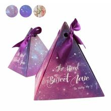 5pcs Paper Gift Box Candy Boxes for Wedding Decoration Star Pyramid Triangle Favor Boxes Festive Party Supplies Favor Boxes 45(China)