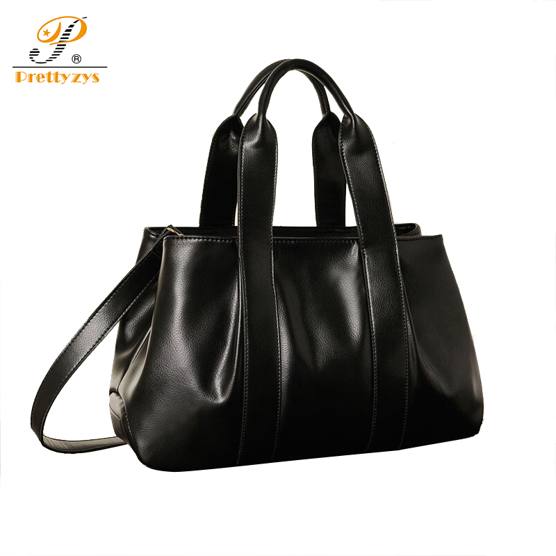 Prettyzys 2017 Luxry Brand Women Leather Handbags Lady Large Tote Bag Female Shoulder Bags Bolsas Femininas Sac Black Red Cross<br>