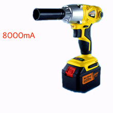 1/2' Li-ion 88V 8000mA  2 batteries Electric Impact Wrench car wrench scaffolding lithium electric pneumatic drill tool wrench