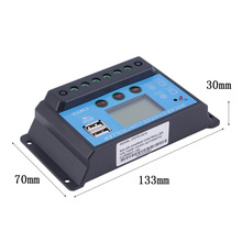 10A 12V/24V Solar Charge Controller with LCD Display Auto Regulator Timer Solar Panel Battery Lamp LED Lighting Top Sale