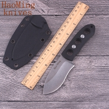 New Mini Fixed blade knife camping survival tactical hunting pocket necklace Neck straight knives Multi EDC Tools gift K sheath(China)