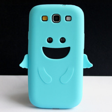Sky Blue Silicone Angel Design Soft Skin Cover Case For Samsung Galaxy S3 III i9300 Coque Funda Capa New(China)
