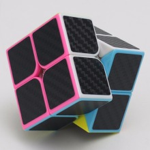 2*2*2 Carbon Fiber Sticker Speed Smooth Rubik Magic Cubes Children Puzzle Educational Toys
