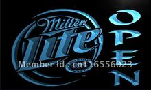 LA029- Miller Lite Beer OPEN Bar   LED Neon Light Sign     home decor shop crafts