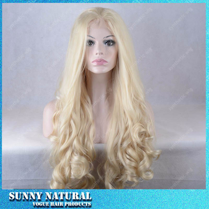 Top Selling Natural Wave Wigs Synthetic Lace Front Wig Heat Resistant  Blonde Color Lace Front Synthetic Wigs For Black Women<br><br>Aliexpress