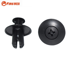 100 X 8mm Hole Auto Clips Car Door Trim Panel Plastic Rivets Front Dumper Fender Fastener For Hyundai BYD F3 Black(China)