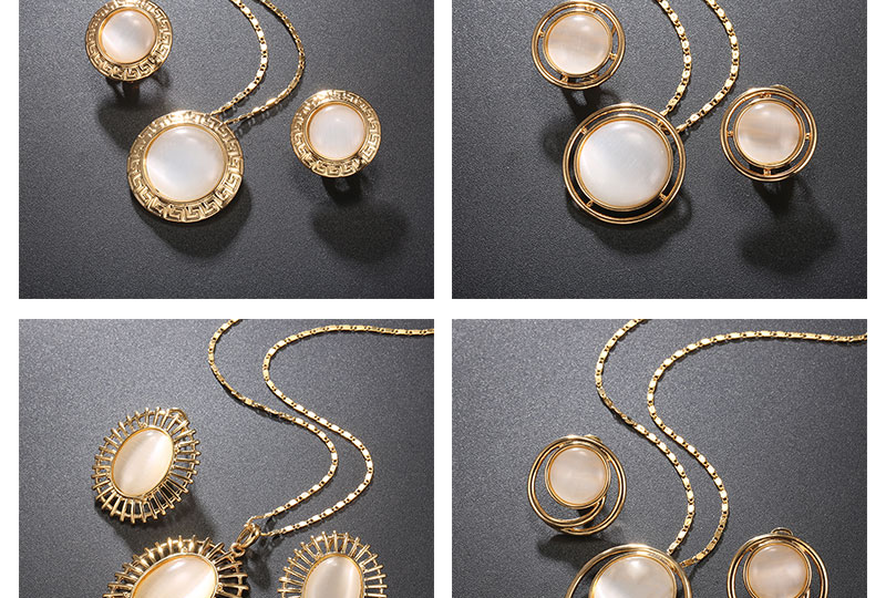 BTSETS Luxury Jewelry Sets Opal Women Dubai Jewelry Sets Round Party Vintage Turkish Jewelry Gold Color Indian Jewellery (4)