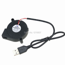 20PCS Gdstime DC 5015S 5V USB 5CM 50MM x 15MM Turbine Brushless Cooling Blower Fan(China)
