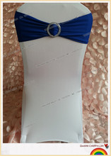 royal blue spandex band with plastic buckle for chair covers/spandex band