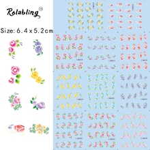 2017 New Arrival Spring Atmosphere Beautiful Flower Series Nail Sticker Decorate Fingernails Nail Makeup Shine Nail