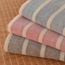 Pastoral style striped linen cotton dress dress baby clothing home soft decoration bedding cushion cover fabric