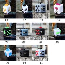 Original Cube Stress Relief Toy Silicone Button Camouflage Green Navy Magic Cube Fidget Puzzle Spinner Xmas Gift with Box(China)