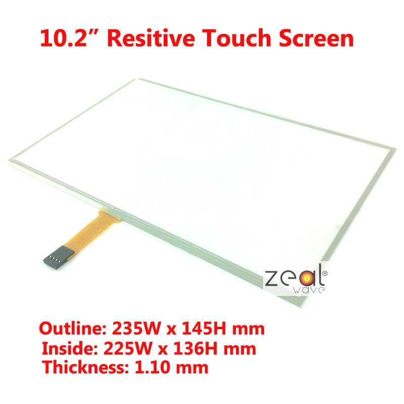 10.2 Inch Resistive Resistance-Type Touch Screen for B101AW03 235x145mm 235*145mm 4 Wire TFT LCD USB Win 7 XP PC<br><br>Aliexpress