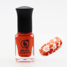 6.5ml BORN QUEEN  Orange Nail Stamping Polish DIY Nail Art Plate Printing Varnish Lacquer