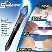 1PC 5 Second Fix UV Light Repair Tool With Glue Super Powered Liquid Plastic Welding Compound(China)