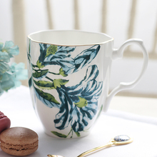 450ML Pastoral Style Ceramic Bone China Black Tea Cup Home Drinkware Office Coffee Mug Large Capacity Water Cup Birthday Gifts(China)