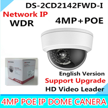 Hikvision 4MP IP Camer DS-2CD2142FWD-I IP POE Camera Day/night Infrared IP67 IK10 Protection Outdoor Dome Camera support ONVIF(China)