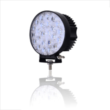 1PCS 72W Waterproof Spot Beam Car Lights Round Cool White LED Work Lights 12-24V LEDS Offboard Car Lights for SUV Boat Truck