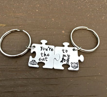 New Custom Personalized Any Letter Name Or Date/Best Friends Forever, Matching Set Puzzle Pieces, Animal Lover/Couple KeyChains(China)