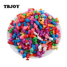 50pcs/lot Cartoon Ocean Animal Action Figure Toys Mini Monster Suction Cup Collector Capsule Model Actions Toys Children Kids