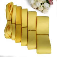 5Yards 7/10/15/20/25/38mm Yellow Grosgrain Ribbons Packing Material DIY Crafts Decor Wedding Party Decoration Gift Wrapping(China)