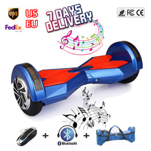 2 wheels Self Balancing Scooter 8inch Hover Board with Bluetooth Music Led Light 4400mah Electric Skateboard Sale China UL2272