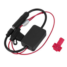 New 12V Black Automobiles Radio Signal Amplifier ANT-208 Auto FM/AM Antenna Booster 3M Adhesive New Car Styling Hot Selling(China)
