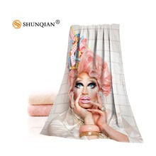 Custom rupaul Towels Microfiber Fabric Popular Face Towel/Bath Towel Size 35x75cm, 70x140cm Print your picture(China)