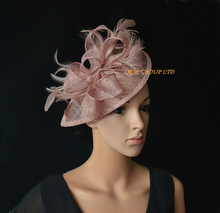 NEW Heather pink Sinamay  Fascinator hat for wedding,Ascot Races,Melbourne Cup