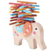 Wooden toys baby Elephant Balance Wood Toy children puzzle game toys for kids animal balance wooden toy CU123(China)