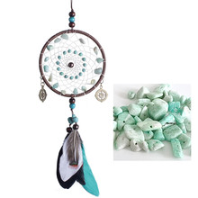 Antique Imitation Dreamcatcher Gift checking Dream Catcher Net With Natural Stone Feathers Wall Hanging Decoration Ornament(China)