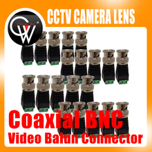 10PCS/LOT Cat5/Cat6 UTP to Coaxial BNC Video Balun Connector Adapter for CCTV Camera etc(China)