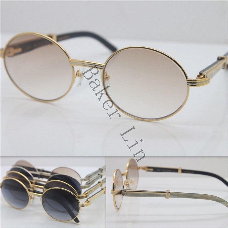 Cartier 7550178 Black Mix White Genuine horn Sunglasses 55