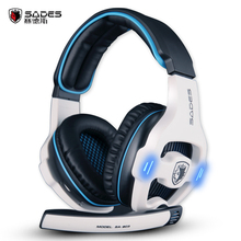 HiFi Stereo Sades SA-903 Top quality 7.1 channel professional gaming headset usb computer headphone with mic deep bass earphone(China)