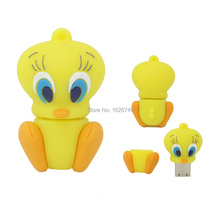 FGHGF 100% real capacity Cartoon Tweety DUCK USB Flash Drive Memory Stick mini cute animal Pendrive 2GB 4GB 8GB 16GB 32GB