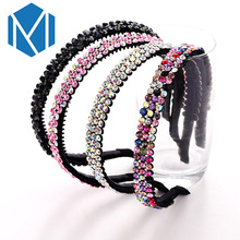 M MISM 2017 Ladies Shinning Hair Accessories 3 Row Rhinestone Decoration Headband Female Headwear Hairbands For Women Wholesale