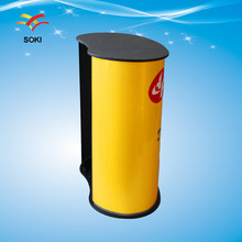 Exhibition Stand High Quality Portable Promotion Counter, Display Curve Promotion Table(China)