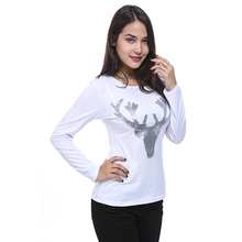 Sequins Excellent Casual Design Stylish T Shirt Accessories Lovely High Quality Simple Women`s 2017(China)