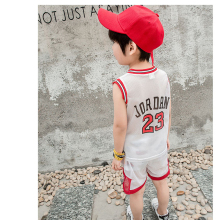 2017 New Summer Boy Basketball Sport Suit Children Sleeveless Vest Clothes suit baby Girls Sports Tracksuit Sets Kids Clothing