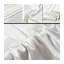 Free Shipping  Pure Silk Charmeuse Satin Fabric  nature white 100 silk fabric 12 momme to 25 momme